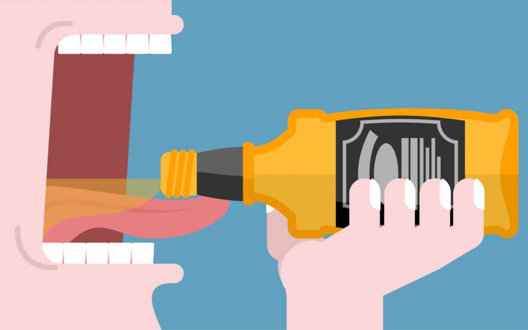 Negative effects of alcohol on teeth